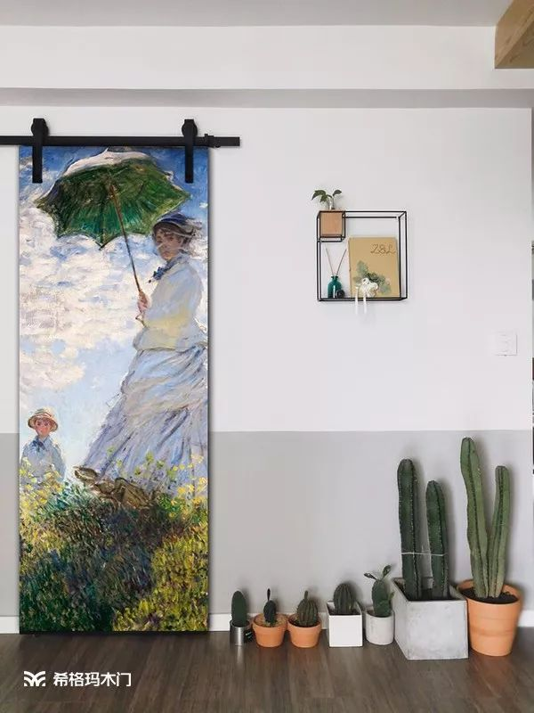 希格玛木门创意彩绘系列 勾勒缤纷色彩之家手机喇叭